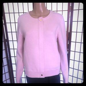 EUC J Crew Light Pink thick knit sweater. Amazing